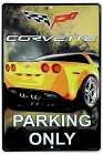 Corvette Parking Only Large Parking Sign