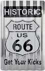 Historic Route 66 Corrugated Large Sign