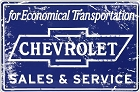Chevy Sales & Service Large Parking Sign