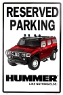 Hummer Large Parking Sign