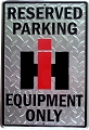 International Equip Large Parking Sign