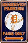 Detroit Tigers Lg. Parking Sign