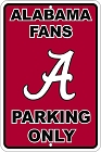 University of Alabama Large Parking Sign
