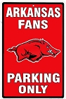 University of Arkansas Razorbacks II Large Parking Sign