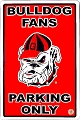 University of Georgia Bulldog Large Parking Sign