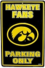 University of Iowa Hawkeye Large Parking Sign
