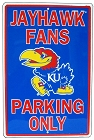 Kansas University Jayhawks Large Parking Sign