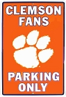 Clemson Tigers Large Parking Sign