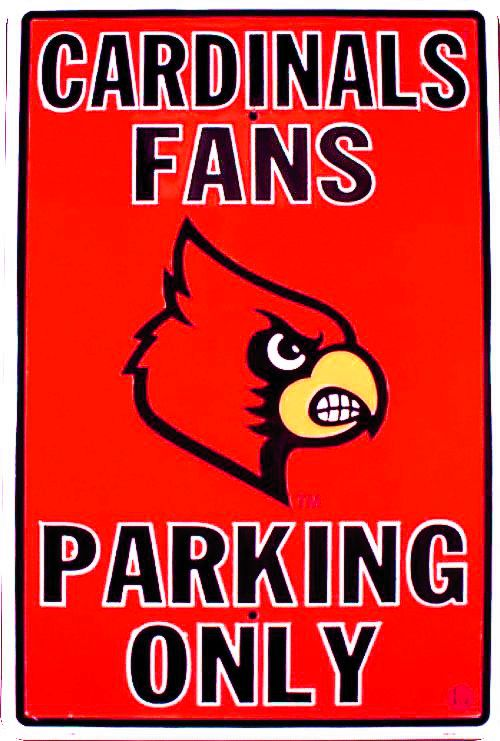 Louisville Cardinals Large Parking Sign