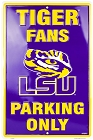 Louisiana State Tigers Purple Large Parking Sign