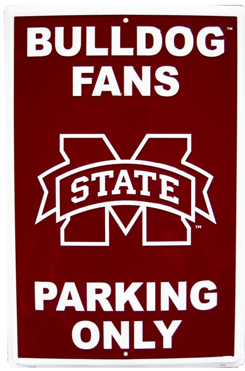Mississippi State Large Parking Sign