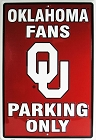 University of Oklahoma Sooners Large Parking Sign