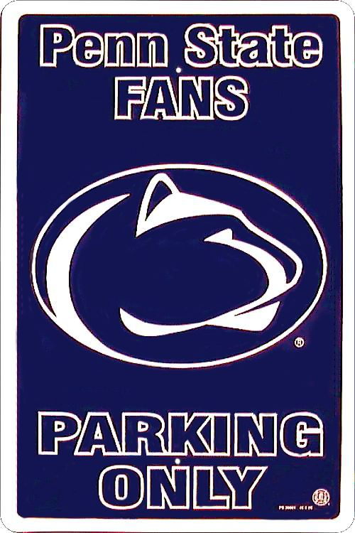 Penn State Large Parking Sign