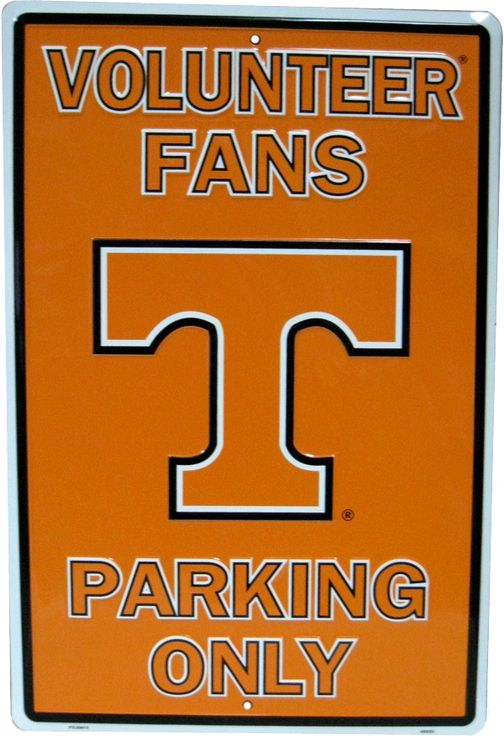Tennessee Volunteers Fans Large Parking Sign