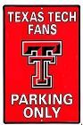Texas Tech Red Raiders Large Parking Sign