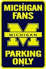 University of Michigan Large Parking Sign