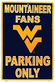 West Virginia University  Mountaineers Large Parking Sign