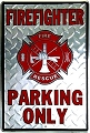 Firefighter Large Parking Sign
