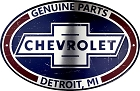 Chevrolet Oval Lg. Parking Sign