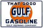 That Good Gulf Gasoline Lg. Parking Sign