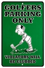 Golfer Parking Sm. Parking Sign