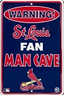 St. Louis Fan Man Cave Sm. Parking Sign