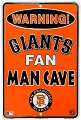 SF Giants Man Cave Small Parking Sign
