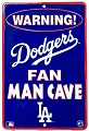 LA Dodgers Man Cave Small Parking Sign