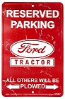 Ford Tractor Sm. Parking Sign