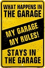 What Happen's In The Garage Sm. Parking Sign