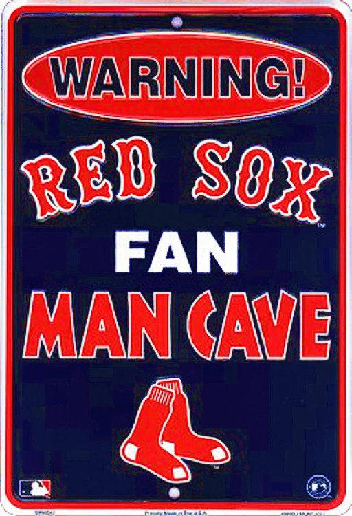 Boston Red Sox Man Cave Warning Sm. Parking Sign
