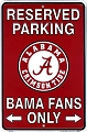 University of Alabama Sm. Parking Sign