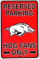 Arkansas Razorbacks Sm. Parking Sign