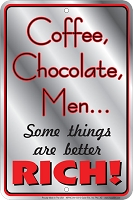 Coffee Chocolate Men Sm. Parking Sign
