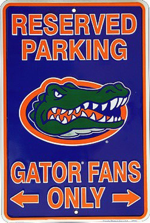 Florida - Go Gators Sm. Parking Sign