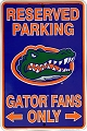 University of Florida - Go Gators Sm. Parking Sign
