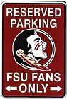 Florida State Seminoles Sm. Parking Sign