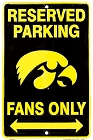 Iowa Hawkeyes Fan Sm. Parking Sign