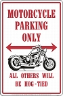 Motorcycle Sm. Parking Sign