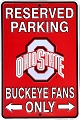 Ohio State Buckeye Sm. Parking Sign