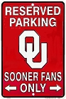 Oklahoma Sooners Fan Sm. Parking Sign