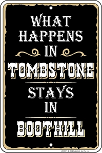Tombstone Sm. Parking Sign