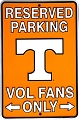 Tennessee Volunteers Sm. Parking Sign