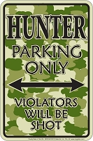 Hunter Camo Sm. Parking