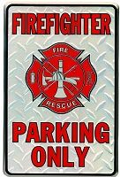 Firefighter Parking Sm. Parking Sign