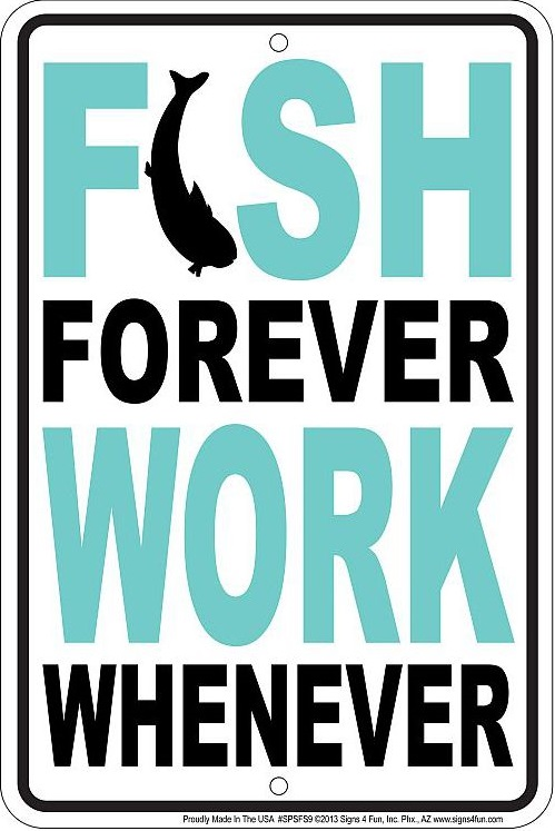 Fish Forever Sm. Parking Sign