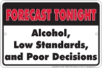 Forecast Tonight Sm. Parking Sign