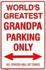 Grand Pa Sm. Parking Sign