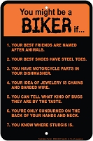 Biker Rules Sm. Parking Sign