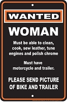 Woman Wanted Sm. Parking Sign